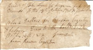 James Bell Receipt from October 15, 1808