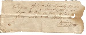 John Logan bastardy note from Oct 11, 1811