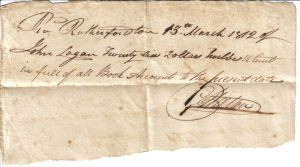 George Walton Receipt March 13, 1812