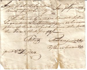 John Logan Retailing License Feb 2, 1818