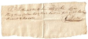 George Walton Receipt June 18, 1814
