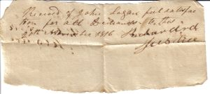 Richard Justice Receipt November 26, 1816
