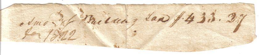 Jail Tax Receipt dated January 27, 1822