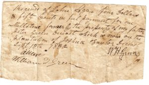 Peter Green's Order for Millstone September 13, 1830