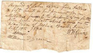 Peter Green's Order for Millstone September 13, 1830