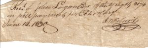 J.W. Cabaniss Receipt June 12, 1830