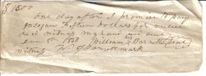 William Barnett Receipt January 8, 1830